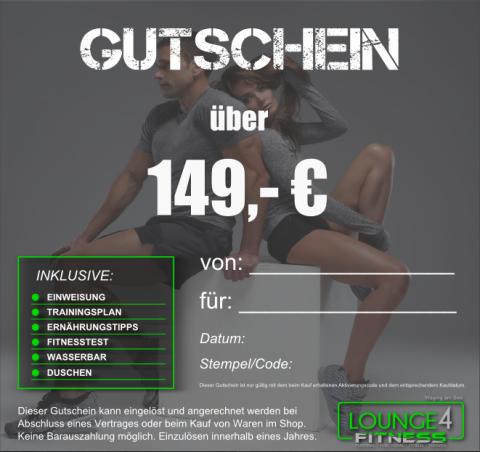 Lounge4Fitness Gutschein 149€
