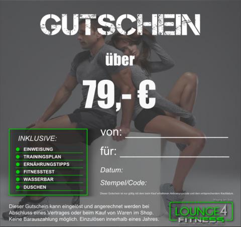 Lounge4Fitness Gutschein 79€
