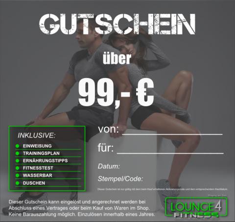 Lounge4Fitness Gutschein 99